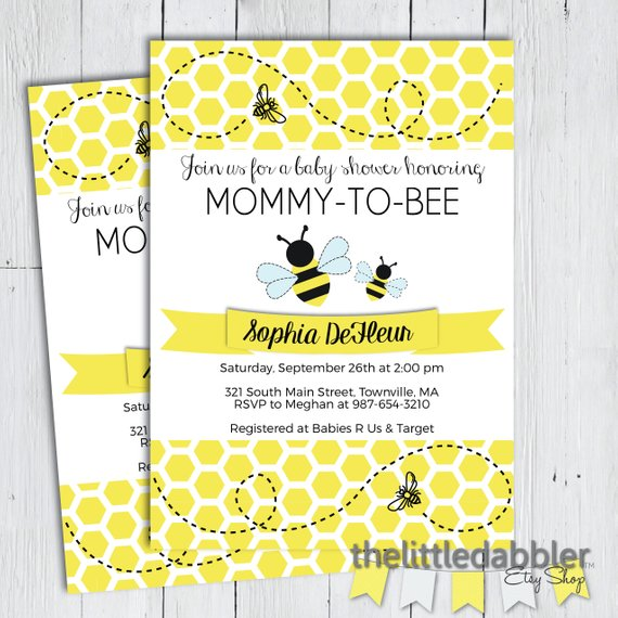 Bee Baby Shower Invitations Cobypic