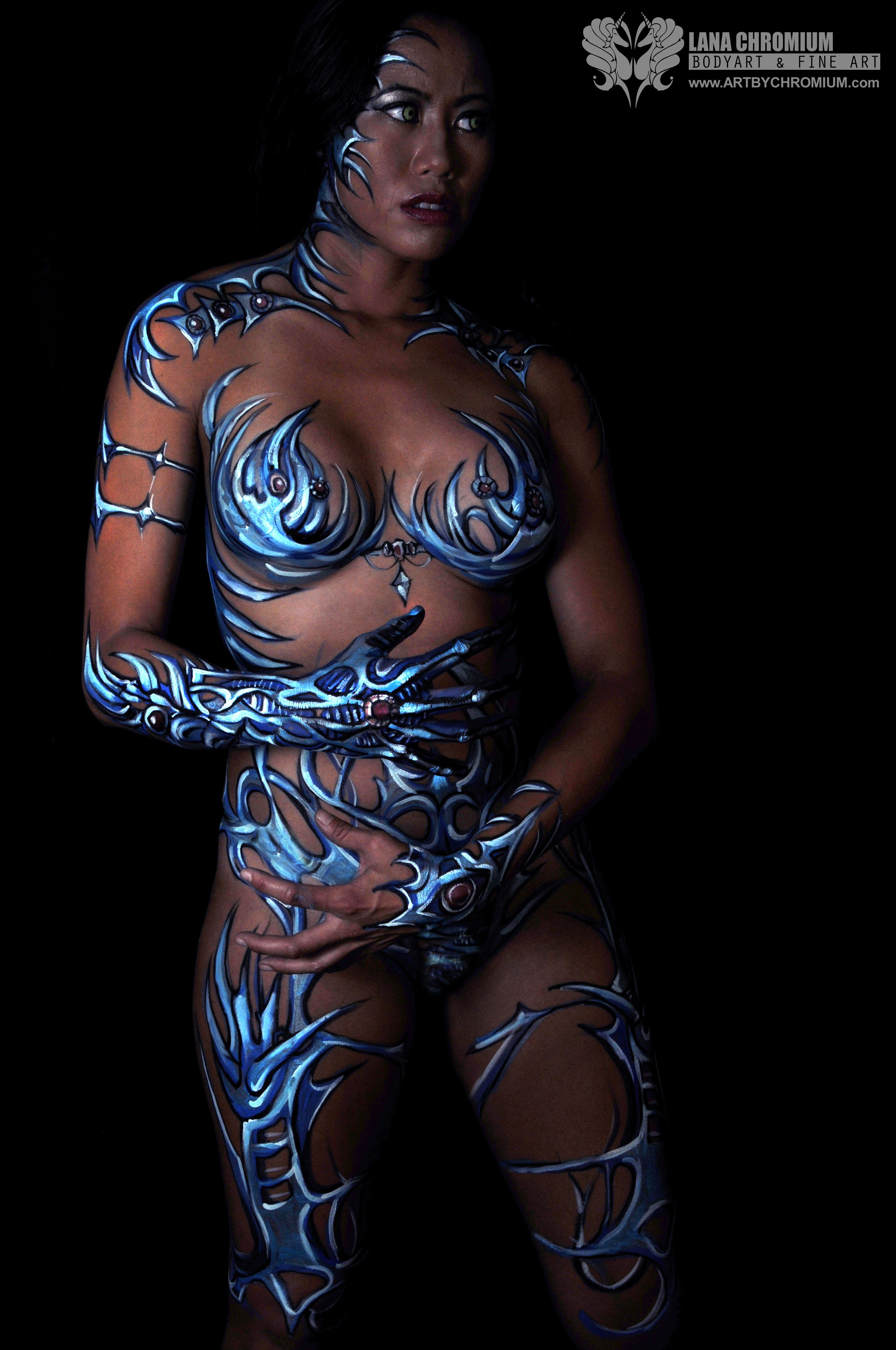 Witchblade Bodypainting By Lana Chromium Makeup Bodyart Bodypaint Fantasy Fest Ideas Cosplay Comiccon Cost Body Painting Body Art Photography Bodypainting