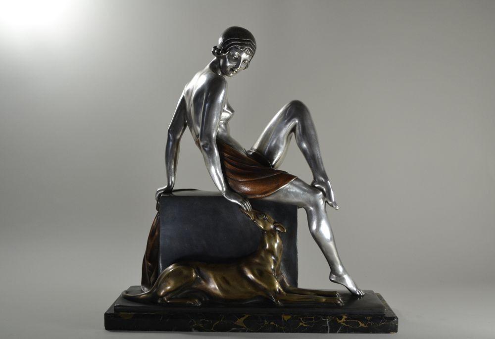 1930.fr Abel Philippe art deco bronze sculpture : companionship - Sculptures - Art deco sculptures bronze clocks vases