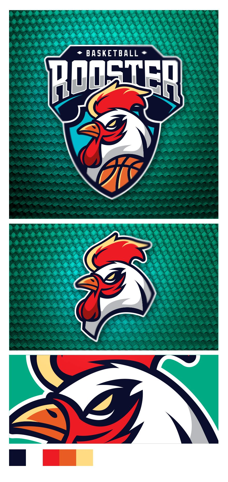 Rooster Basketball on Behance Sports logo design, Sports