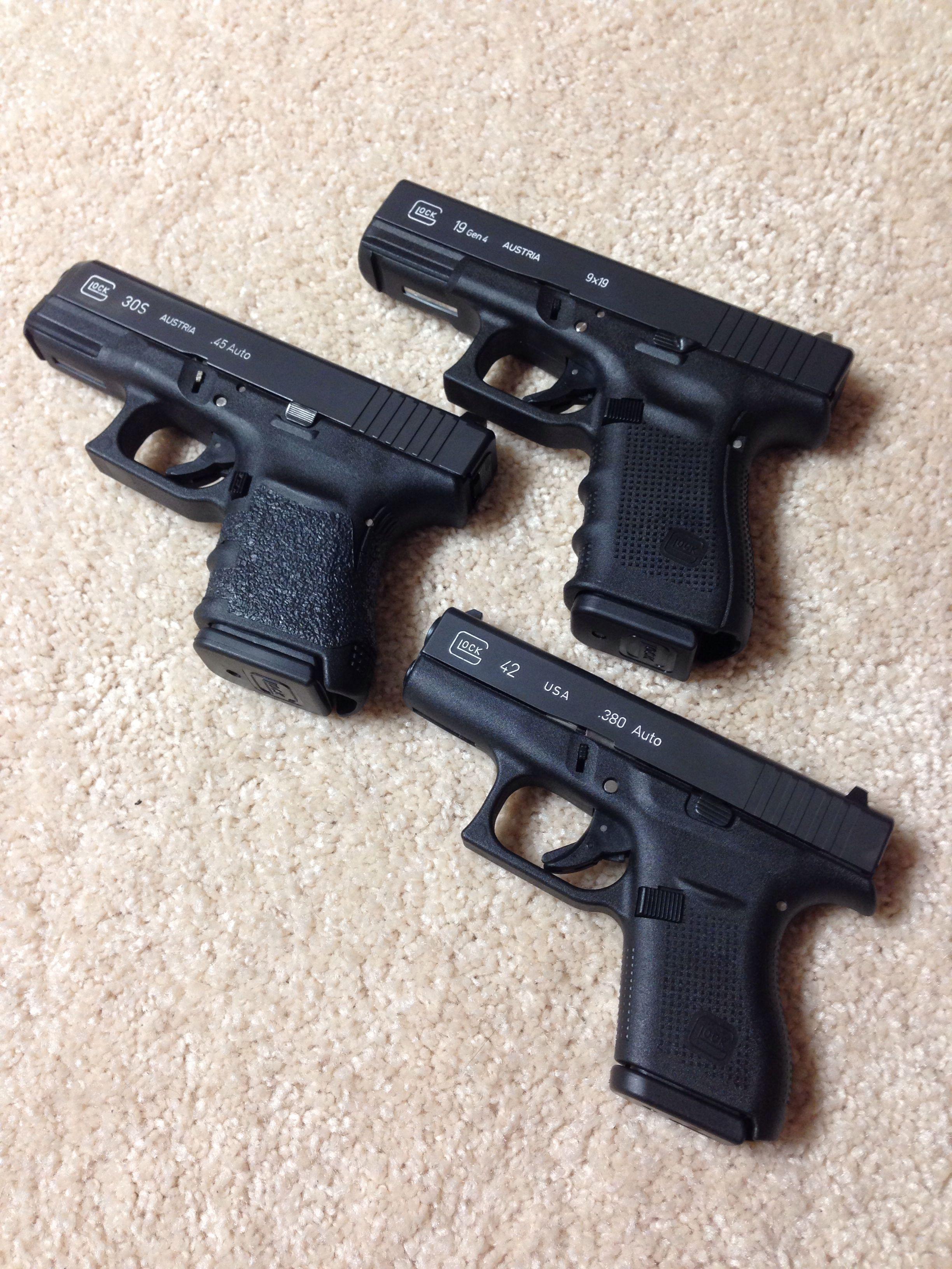 My Glocks   G19 (9mm), G30S ( 45 ACP) and G42 ( 380) | Bear