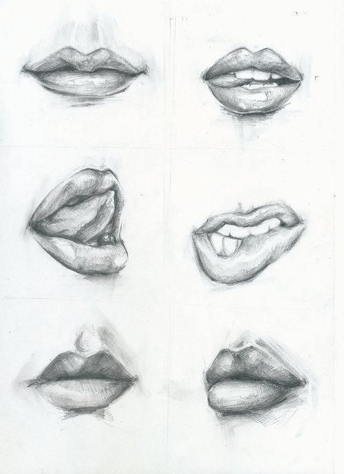 How to draw realistic mouth teeth and lips more