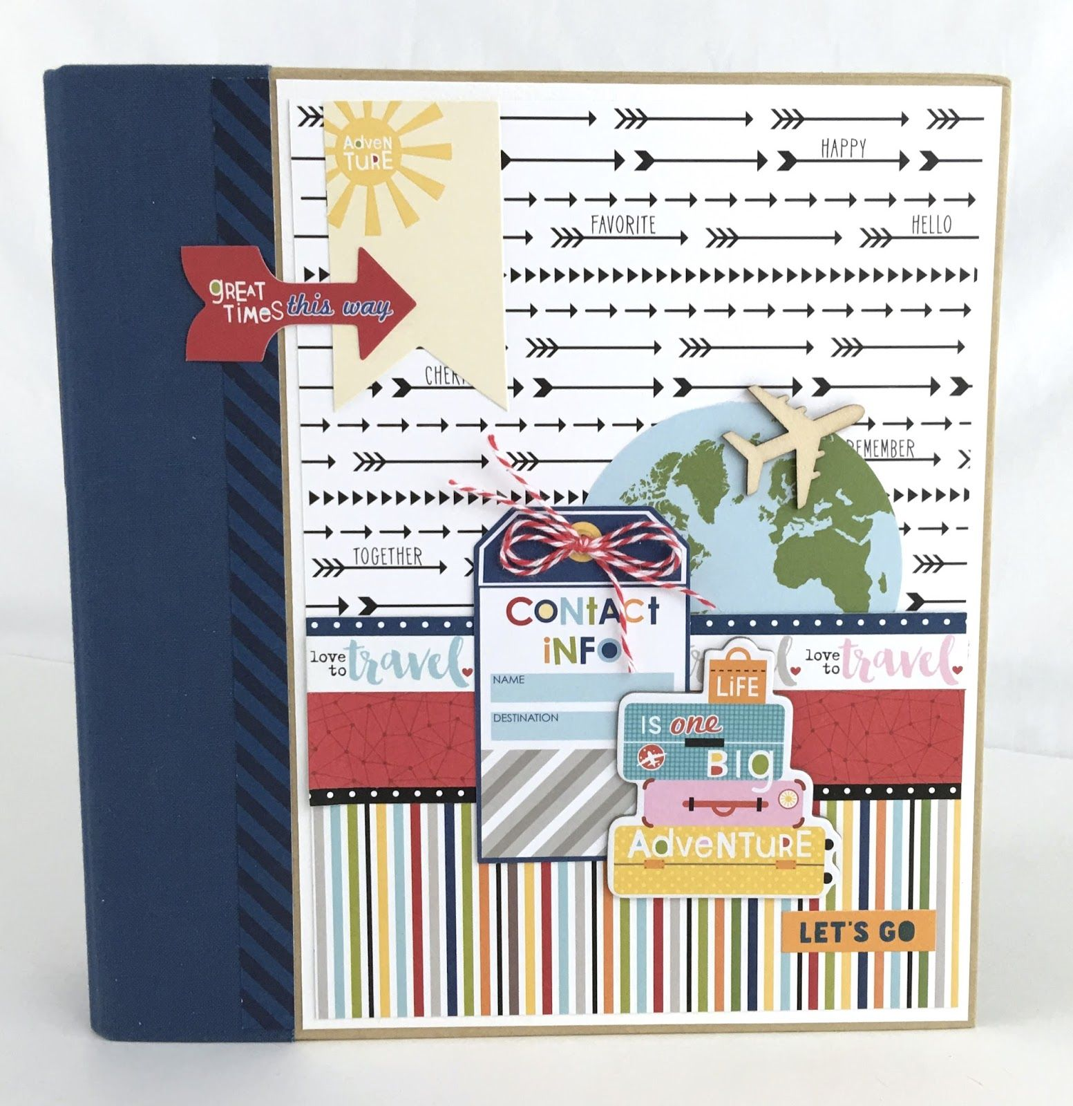 Artsy Albums Mini Album and Page Layout Kits and Custom Designed Scrapbooks by Traci Penrod: Travel Scrapbook Mini Album with Bella Blvd Let's Go