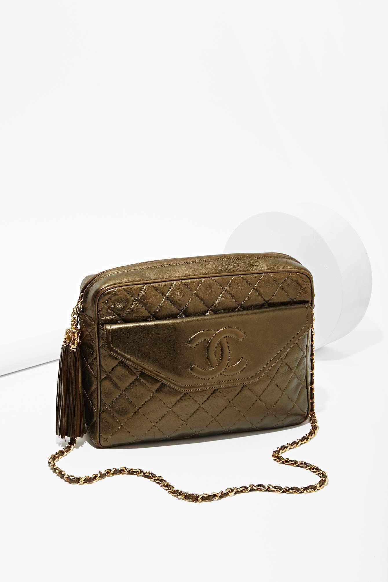 06f58d9853c5 Vintage Chanel Metallic Tassel Bag
