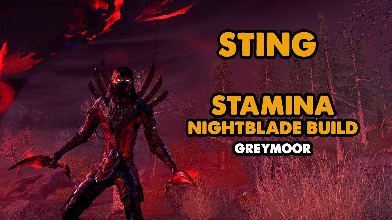 Eso Sting Stamina Nightblade Pve Build Greymoor Stamina Sting Elder Scrolls Online