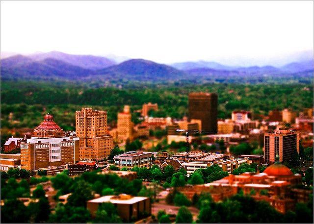 City Of Asheville Fake Tilt Shift Places To Go Beautiful Places Asheville North Carolina