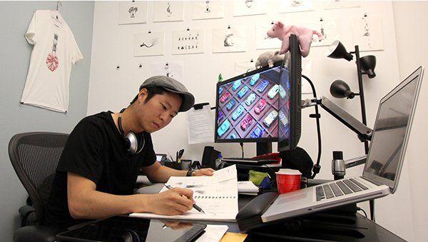 animator working