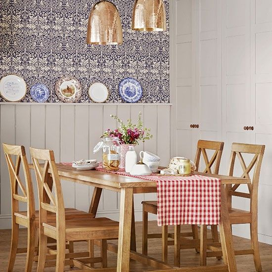 Countrystyle Dining Room With Panelling  Dining Room Decorating Classy Dining Room Ideas Uk Review