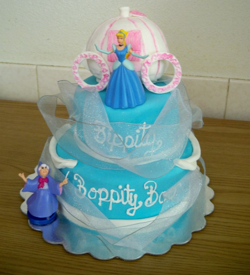 simple cinderella cake little girl parties Pinterest Cake