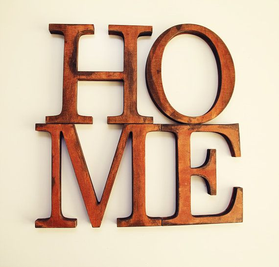 HOME Distressed Wood Letters Wood Word Vintage Decor