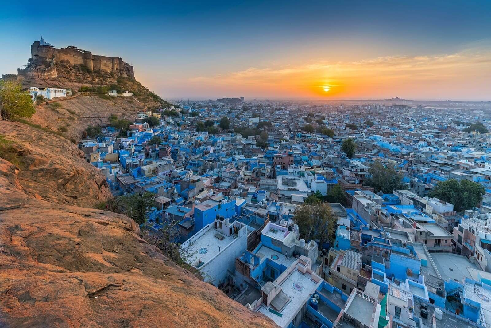 The city of Jodhpur, a bustling city in the Indian state
