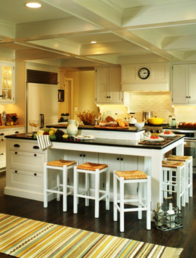 Large kitchen islands kitchen island designs with for Hampton style kitchen stools