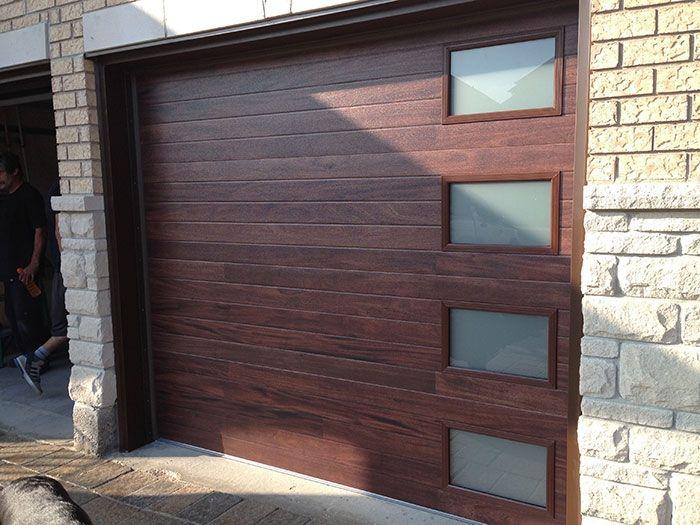 Modern Garage Doors Fiberglass Modern Double Garage Doors With 4