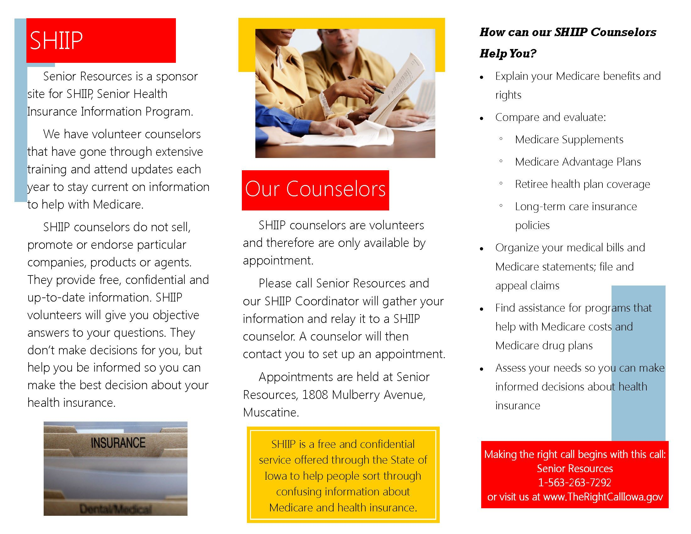 Senior Health Insurance Information Program (SHIIP ...