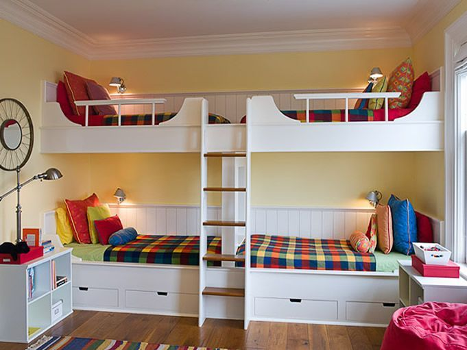 Lits superpos s 4 enfants 4 enfants chambre coucher Chambre enfant 3 ans