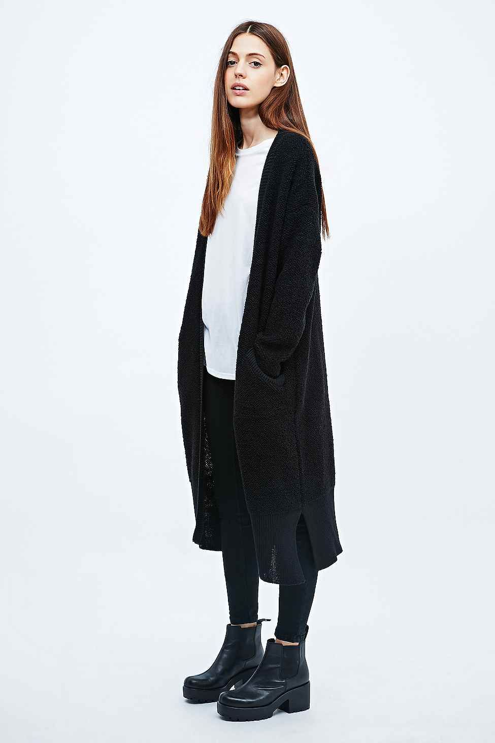 Sparkle & Fade Maxi Detail Cardigan in Black - Urban Outfitters ...