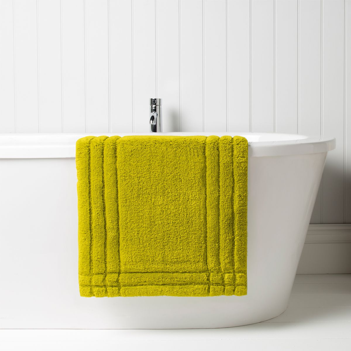 Christy Chartreuse bath rug