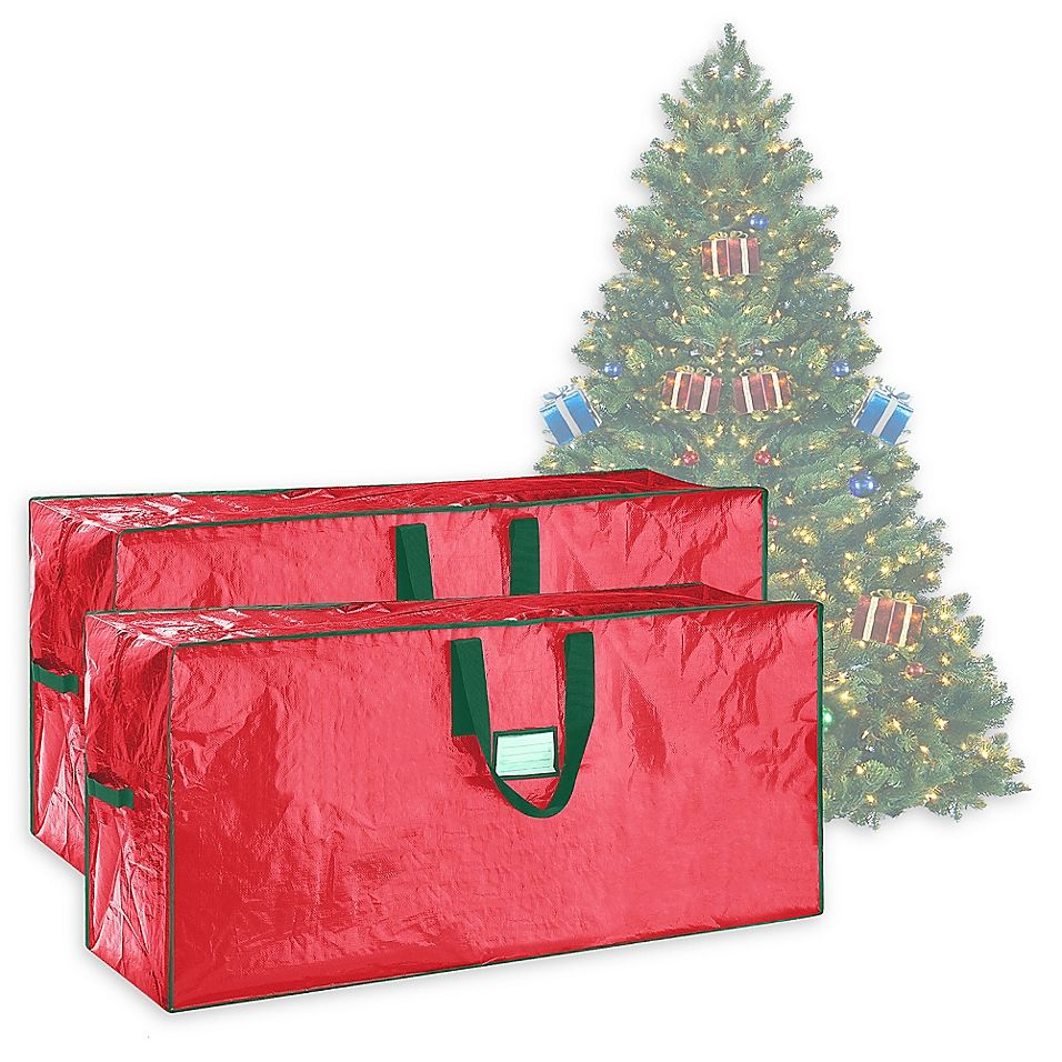 Elf Stor 7 5 Artificial Christmas Tree Storage Bags In Red Set