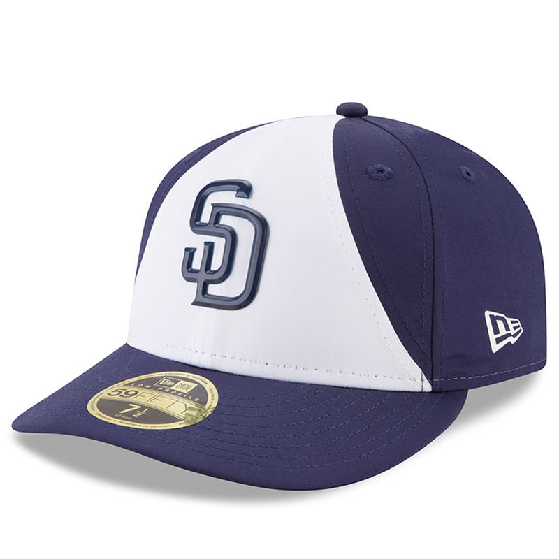 best service cfe9c 35fd6 San Diego Padres New Era 2018 On-Field Prolight Batting Practice Low Profile  59FIFTY Fitted Hat – White