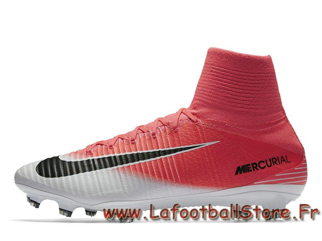 Nike Mercurial Superfly V FG Chaussure de football à crampons pour terrain  sec pour Homme Rose d82ab7c34d4c
