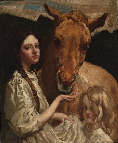 The Russian pony by George W Lambert. 1919.