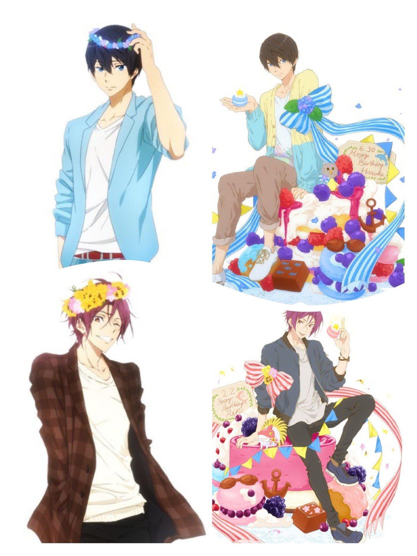 2015&2016 Rin and Haruka Birthday Free!anime RinxHaru