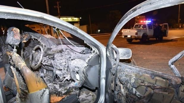 Corpse found in burned out car - http://www.theleader.info/2017/08/09/corpse-found-burned-car/