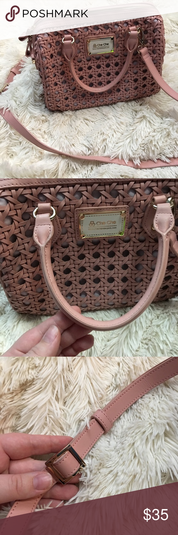 55363f08196d Pink Purse🎀 Che Che New York Purse. Lightly used. Includes small straps and