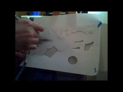 How to Airbrush Effects (Trompe L'oeil): Part One, Tears and Drop Shadows
