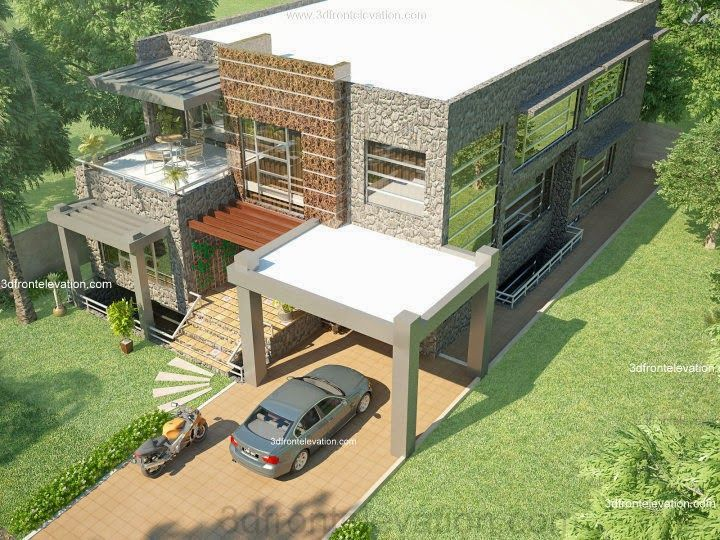Front Elevation Of Houses In Dha Karachi : D front elevation beautiful modern kanal home