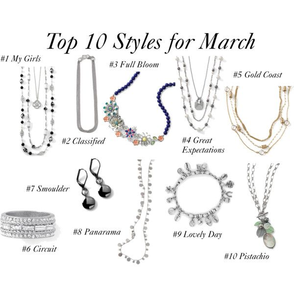 Top 10 Styles For March Pick your favorite and get then