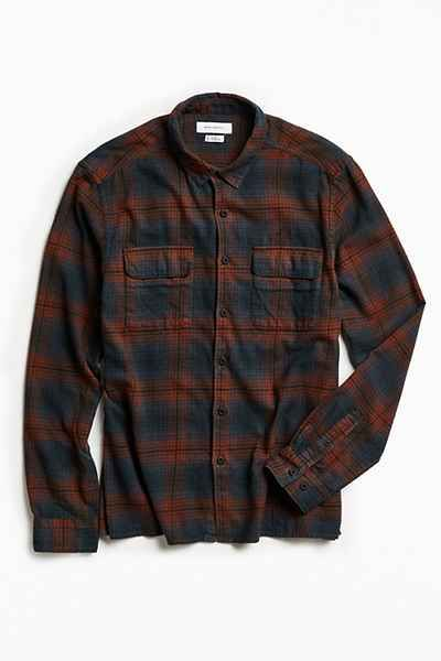 UO Tarmac Trucker Plaid Two Pocket Work Shirt - Urban Outfitters ...