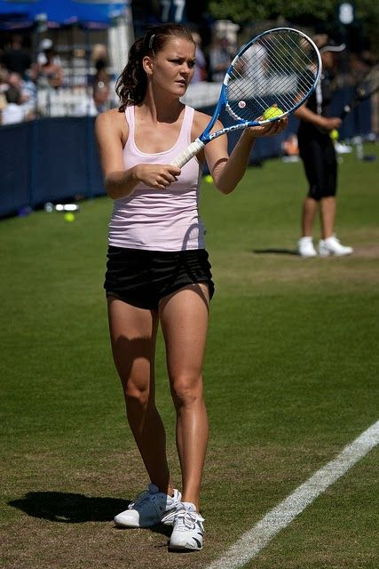Agnieszka Radwanska Beautiful Hot Latest Pictures 2014   3D Tennis Wallpaper