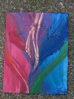 wax and acryilic on canvas..