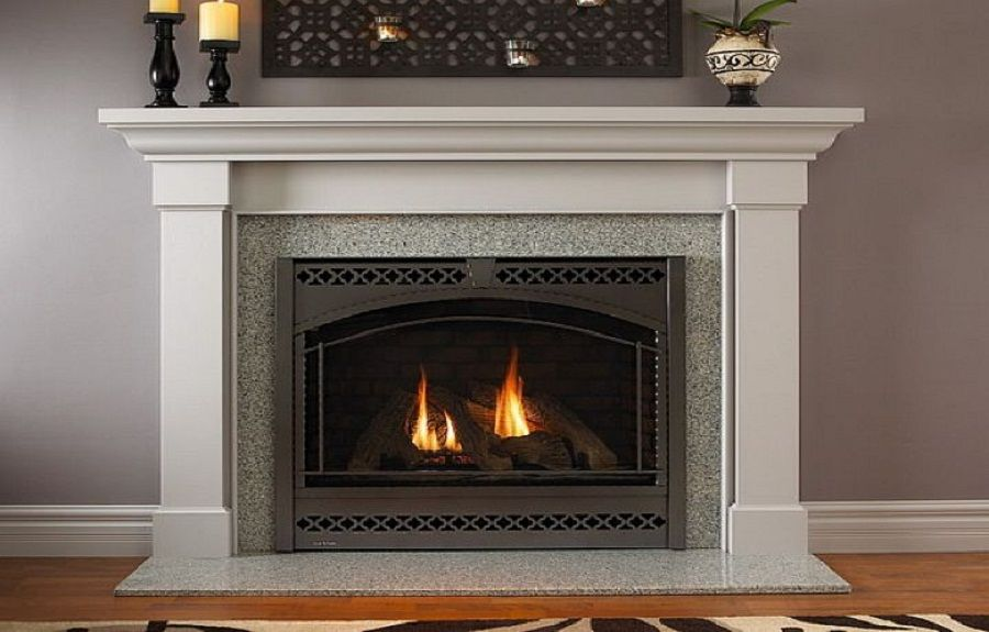 modern fireplace design ideas living room decor open shelves - Fireplace Design Idea