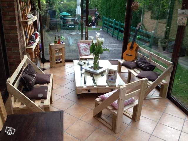 Salon de jardin en palette Ameublement Nord - leboncoin.fr ...