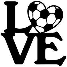 Love Soccer Ball Vinyl Car Decal Bumper Window Sticker Any