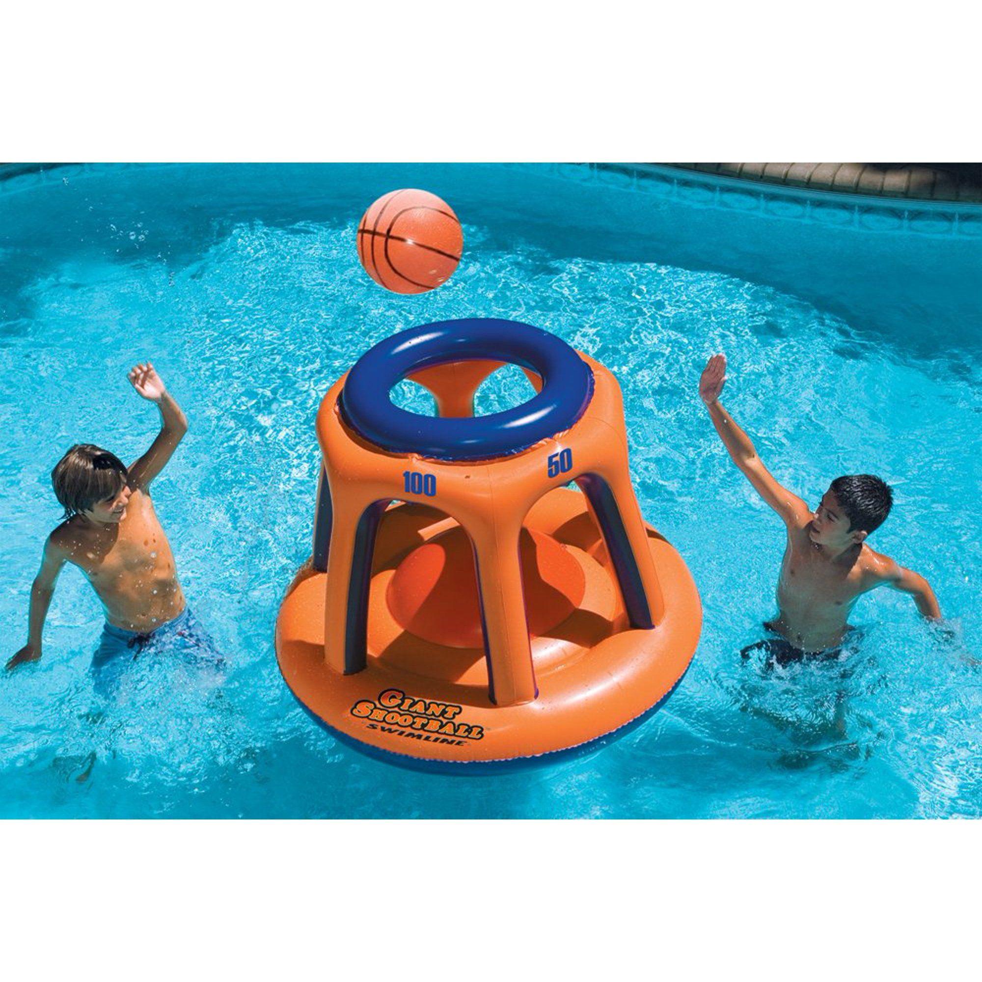 Swimline 90285 Basketball Hoop Giant Shootball Inflatable Fun Swimming Pool Toy Walmart Com In 2020 Swimming Pool Toys Pool Toys Inflatable Pool Toys