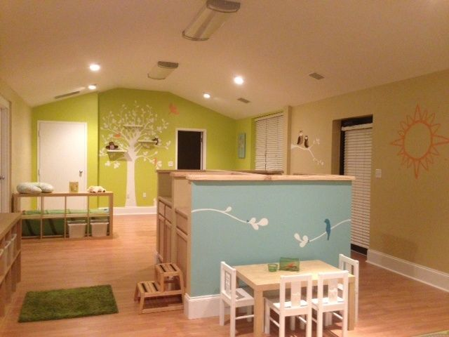 Nursery i painted at church t k designs my special for Church nursery mural