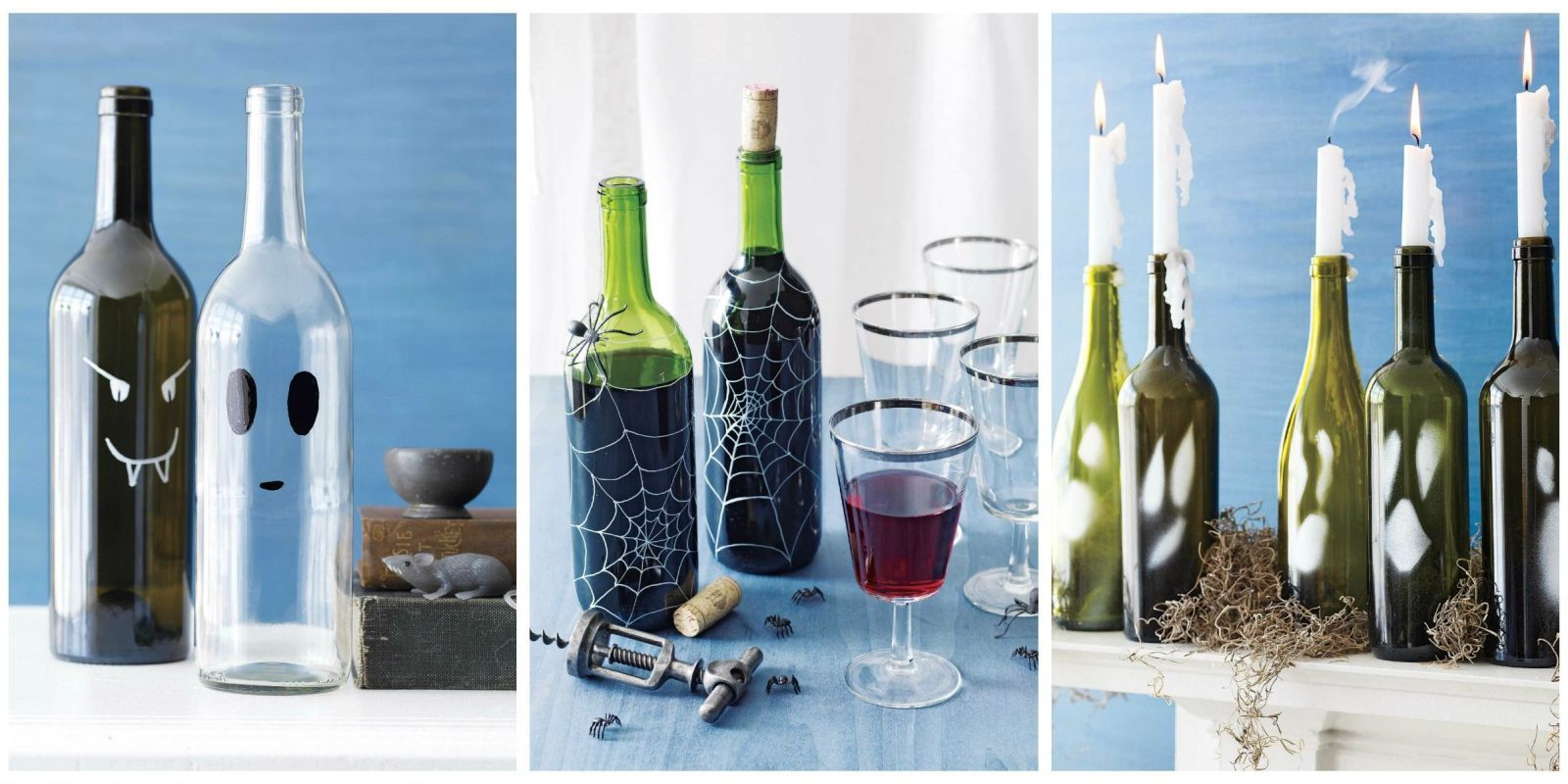 5 Spooktacular Wine Bottle Crafts Scary halloween - Do It Yourself Halloween Decorations
