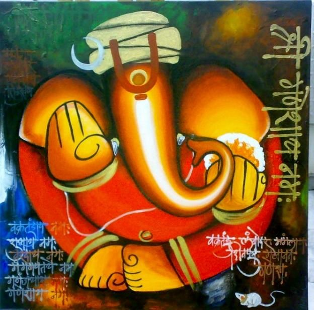ganpati 2 - Painting by Hutansh Artist in my paintings at touchtalent 71178