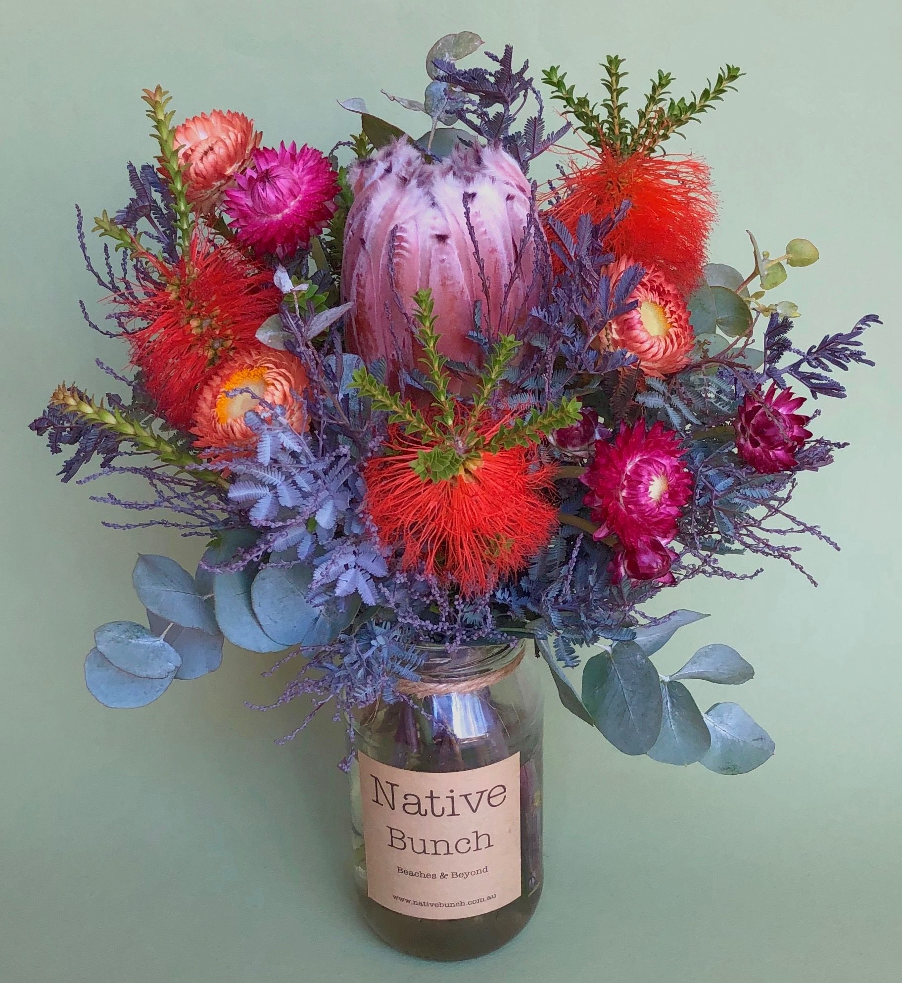 This week's Posy from Native Bunch Protea, Beaufortia