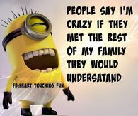 People Say I'm Crazy They Should Meet My Family