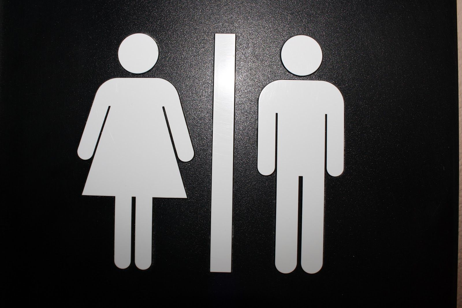 Black And White Bathroom Signs