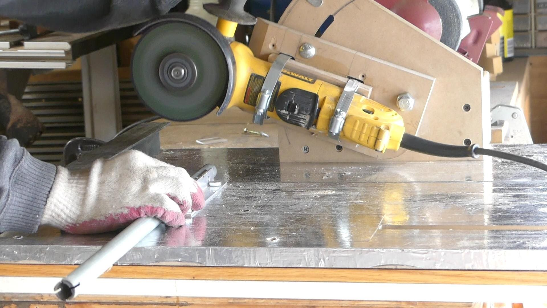 how to cut glass tile with a grinder