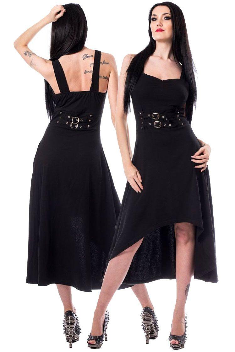 Poizen industries anni dress black gothic dress hemline and angel