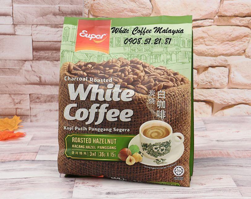 Super White Coffee Hazelnut Cà phê trắng vị hạt phỉ Cà