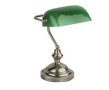 Lámpara de sobremesa Banker - plateado y verde