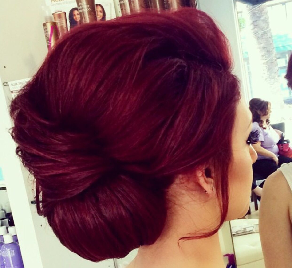 Beautiful Maroon Red Updo Hair Hair Pinterest Updo Hair