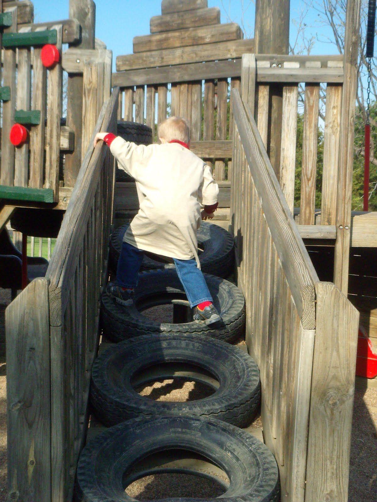 tire bridge outside crafts buildables and playscapes pinterest